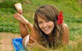 Jeune femme -nature