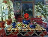 Interior With Blue Pot~ NikolaiJohannesAstrup