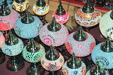 Colored table lamps