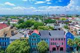 ^ Rainbow Row, Charleston, South Carolina