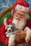 Painting Santa and puppy