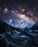 "Landscape tumblr wonders-of-the-cosmos ""The Milky Way over Snow-"