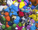 Impressionistic stuffed animals-Esta Brook