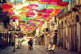 Agueda,Portugal,Umbrella Festival