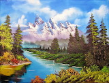 #Mountain Landscape Painting
