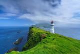 Holmur Lighthouse, Mykines, Faroe Islands