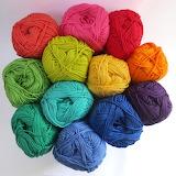 ^ Rainbow yarn balls