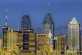 Philadelphia city hall skyline