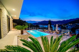 Luxury sea and mountain view villa and pool, Dubrovnik