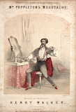 Mr. Poppleton's Moustache sheet music cover, c. 1860