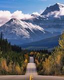 Road to Lake Louise