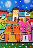 Cats-painting-by-Luciana-Severo