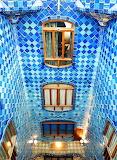 Blue Tiles, Casa Batllo, Barcelona, Catalunya
