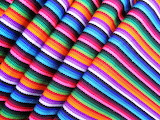 Rainbow Striped Fabric