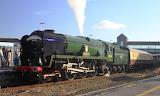 Locomotive 34046 Braunton at Weston-super-mare