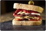 Chicken and salami sandwich