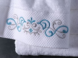 Towel - textures - patterns - embroidery