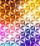 Abstract geometric polygonal rainbow colors