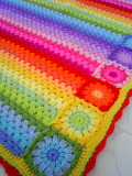 Colorful rainbow afghan