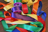 Rainbow array of ribbons