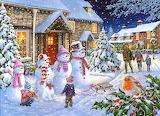 Snow Family by Keith Stapleton...
