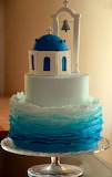 Santorini Island cake
