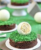 Golf ball truffle brownies