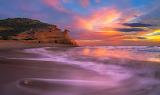Beautiful shore at sunset