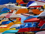 Canoes Toronto Harbour