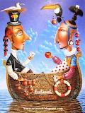 #Two Friends in a Boat by Zurab Martiashvili