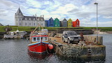 Harbour & houses Outer Hebrides Scotland
