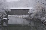 Ada Covered Bridge in Winter