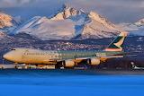"""Cathay Pacific Cargo Boeing 747 """"Hong Kong Trader"""" at Anchorage"""