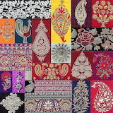 Indian embroidery samples