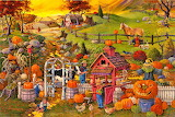 Pumpkins galore - Painting