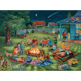 Ray Cresswell - Toasting marshmallows round the backyard fire