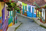 ^ Colorful view of Guatape, Colombia