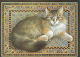 ^ Cat on carpet ~ Lesley Anne Ivory