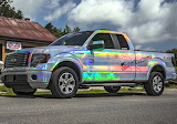 Ford pickup color wrap