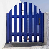 Santorini blue door by Jesus del Toro Garcia