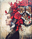 Woman and Foxes