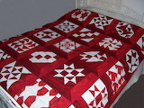 ^ Red Block of the Month Quilt