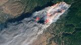 "NASA ""Camp Fire"" Nov.8 ""Landsat 8"" ""Image credit- USGS:NASA:Josh"
