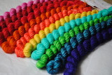 Rainbow twists of yarn