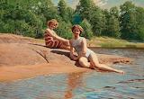 Bathers. Johan Krouthen 1909