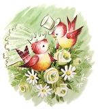 Vintage love birds