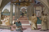 Abbazia Monte Oliveto M.re Siena affresco Sodoma (12 monasteri)