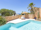 Luxury sea view villa pool in Meditteranean
