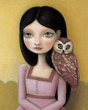 girl with and owl