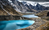 Peru Mountains Lake Cordillera